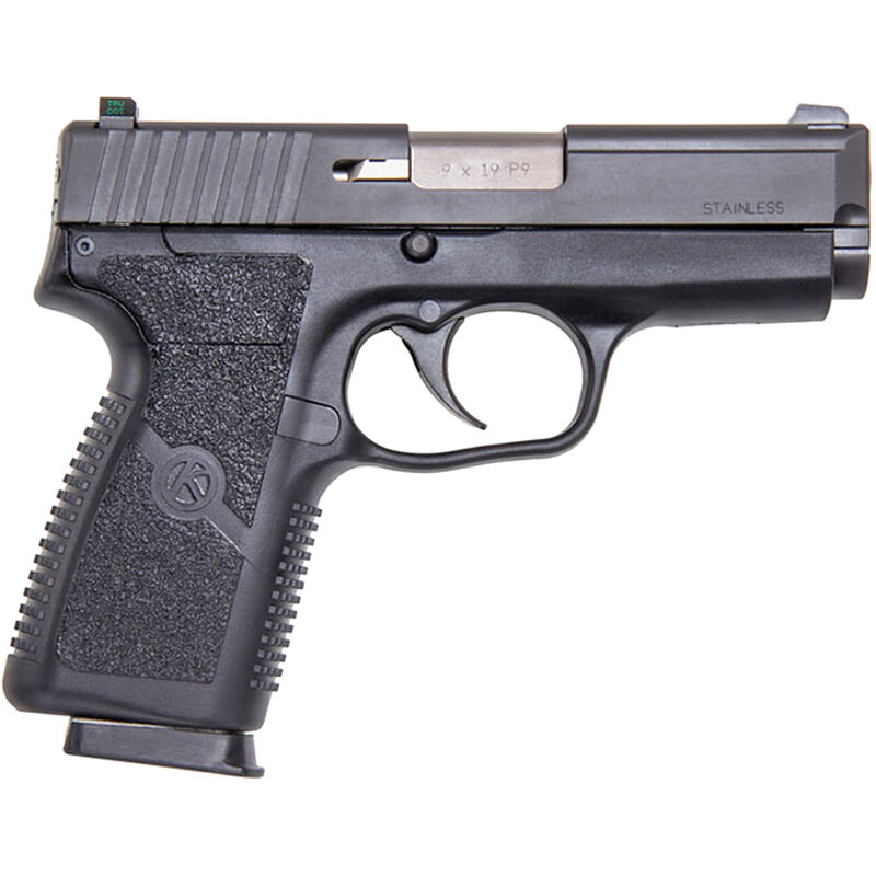 "Kahr Arms P9 9mm Luger Semi Auto Handgun 3.5"" Barrel 7 Rounds Night Sights Polymer Frame Matte Black Finish"