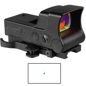 AimShot Green Pro Reflex Sight 5 MOA Dot Reticle 1x CR123 Battery Aluminum Black HGPRO-A-G