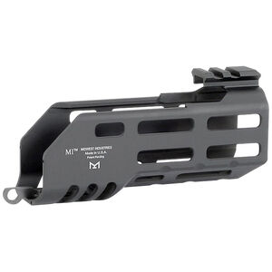 """Midwest Industries SIG Sauer Rattler 5.25"""" One Piece Drop In M-LOK Compatible Hand Guard 6061 Aluminum Hard Coat Anodized Finish Matte Black"""