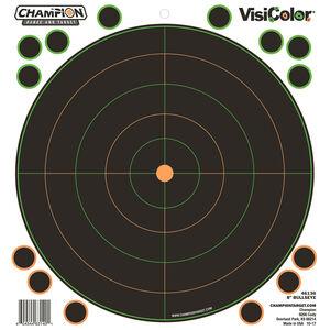 "Champion Traps & Targets VisiColor Adhesive 8"" Bullseye Target 8.5""x9"" Pasters 5 Pack"