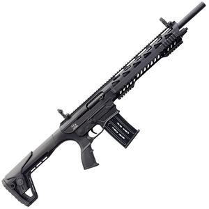 "Charles Daly AR-12A 12 Gauge AR Style Semi Auto Shotgun 18.5"" Barrel 5 Round Box Magazine Polymer Furniture Flat Top/Flip Up Sights Fixed Stock Black Finish"