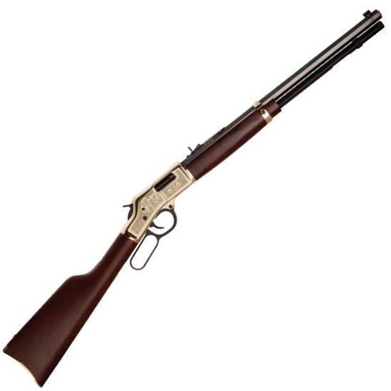 "Henry Repeating Arms Big Boy Oilman Tribute Edition Lever Action Rifle .44 Magnum 20"" Barrel 10 Rounds Walnut Stock with Decorative Scrollwork H006OM"