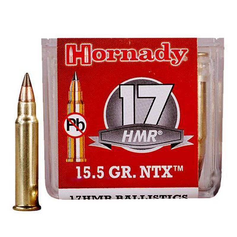 Hornady Varmint Express  17 HMR Ammunition 50 Rounds NTX Lead Free 15 5  Grains 83171
