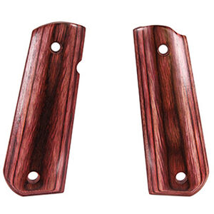 Hogue 1911 Government Model Round Heel Ambidextrous Safety Cut Smooth Rosewood Laminate