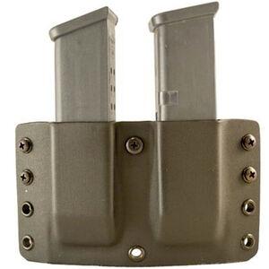 """Comp-Tac Twin Warrior Magazine Pouch IWB/OWB Belt Slide GLOCK 9mm/.40 S&W/.357 SIG/.45 GAP 1.5"""" Belt Size 23 Ambidextrous Kydex FDE"""
