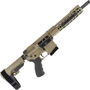 """Alexander Arms Highlander 17 HMR AR-15 Pistol 11"""" Barrel 10 Rounds Velocity Trigger Upgrade SBA3 Pistol Brace FDE Finish"""