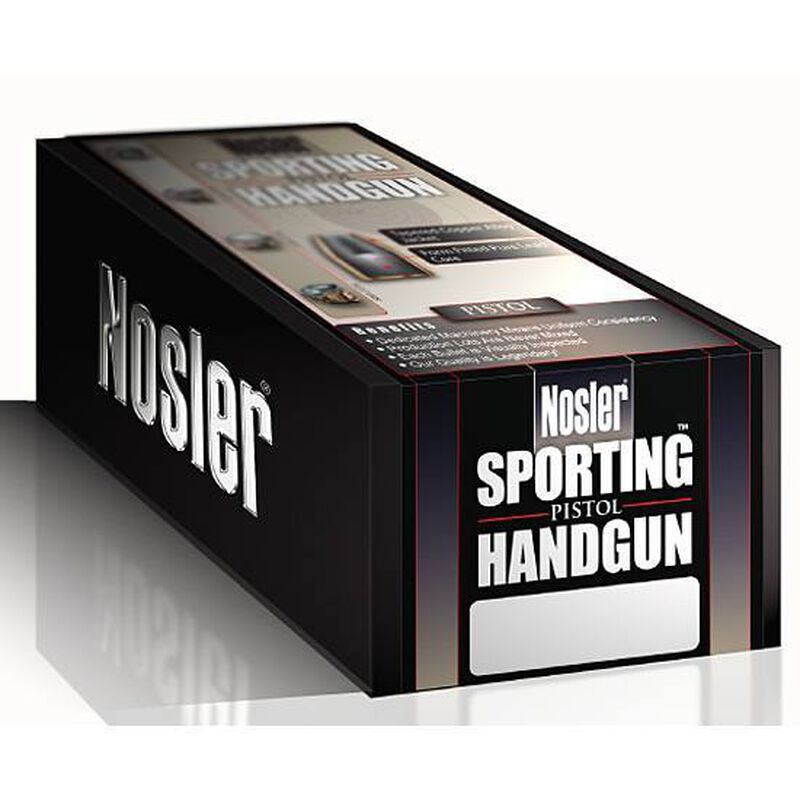 "Nosler 9mm Caliber JHP Bullet 0.355"" Diameter 115 Grain Sporting Handgun Bullets 250 Count"