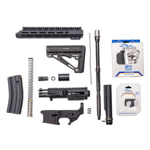 """Anderson Manufacturing Complete AR-15 Kit 5.56 NATO 16"""" Barrel Forged Upper/Lower Receivers 30 Round Magazine Free Float Hand Guard Carbine Stock Matte Black"""