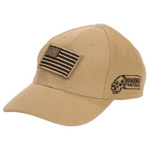 Voodoo Tactical Contractor Baseball Cap w/Removable USA Flag Gray