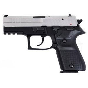 "FIME Group Rex Zero 1CP Compact Semi Auto Pistol 9mm Luger 3.85"" Barrel 15 Rounds Metal Frame Nickel/Black"
