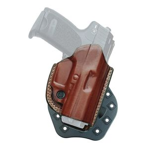 Aker Leather 268 FlatSider Thumbreak XR17 GLOCK 19/23 Paddle Holster Right Hand Leather Tan