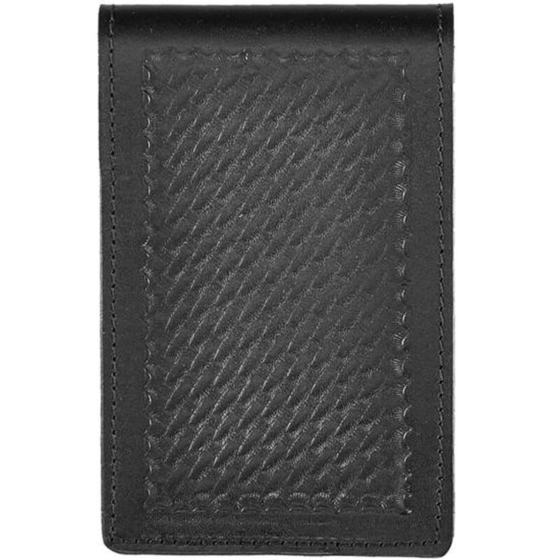 """Aker Leather 583 Notebook Cover 4""""x7"""" Leather Basket Weave Black A583-BW"""