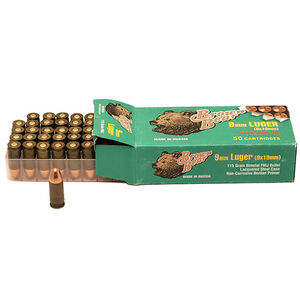 Brown Bear 9mm Luger 115gr FMJ Steel 1180 FPS 50 Rounds