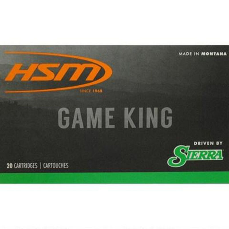 HSM GameKing 243 Win Ammunition 20 Rounds 85 Grain Sierra HPBT 3000 fps