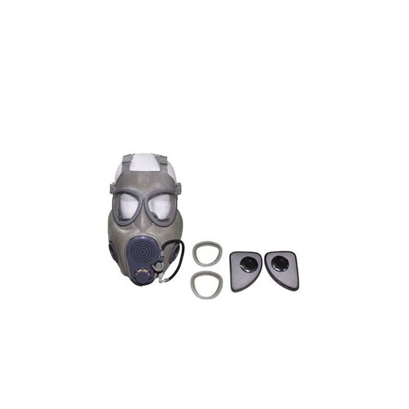 Czech M10M Gas Mask with Drinking Straw, Two Cheek Filters and an Extra Set of Lenses, Used in Good Condition