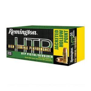 Remington  9mm Luger Ammunition 50 Rounds, HTP JHP, 147 Grains
