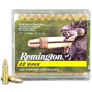 Remington 22 VIPER .22 LR Ammunition 36 Grain Truncated Cone 1280fps