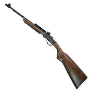 "Chiappa Firearms Little Badger Folding Single Shot Rifle .22 WMR 16.5"" Barrel 1 Round Adjustable Sights Wood Stock Blued 500.173"