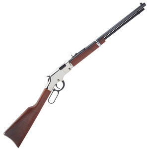 """Henry Golden Boy Silver .22 LR Lever Action Rifle 20"""" Octagon Barrel 16 Rounds Walnut Stock Silver/Blued Finish"""