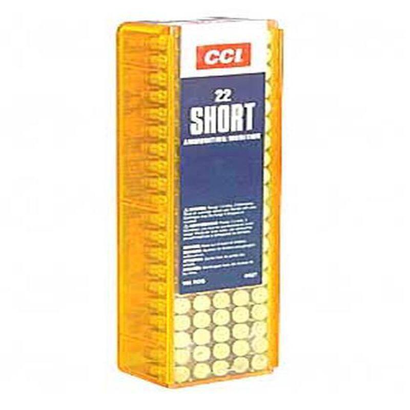 CCI High Velocity .22 Short Ammunition 100 Rounds Copper Plated LRN 29 Grains 0027