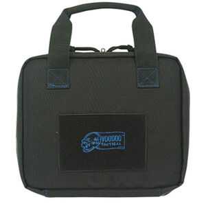 "Voodoo Tactical Custom Series Pistol Case 10""x12""x2"" 900D Poly Fabric Black with Blue"