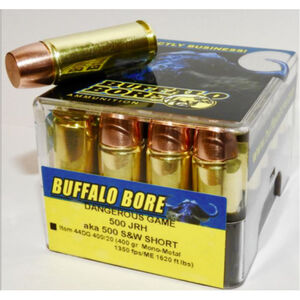 Buffalo Bore .500 JRH Ammunition 20 Rounds Mono-Metal Lead Free FN 400 Grain 44DG 400/20