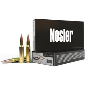 Nosler Match Grade .22 Nosler Ammunition 20 Rounds RDF HPBT 70 Grains 3000 fps