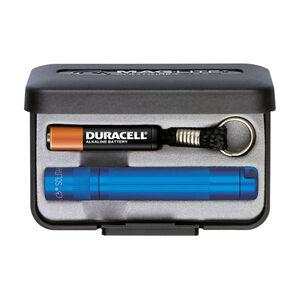 Maglite Solitaire Flashlight 2 Lumens AAA Battery Twist Switch Key Chain Mount Aluminum Royal Blue Presentation Box K3A112