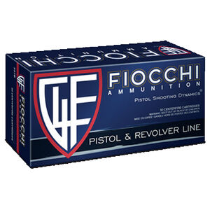 Fiocchi Pistol Shooting Dynamics .38 Special Ammunition 50 Rounds 158 Grain JHP Projectile 850 fps