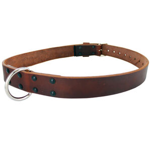 "Gould & Goodrich Restraining Belt with Roller Buckle and D Ring 32""-56"" Russet Finish 189"