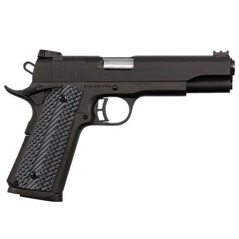 "Rock Island Armory 1911 Ultra Full Size Semi Automatic Pistol .45 ACP 5"" Barrel 8 Rounds Fiber Front Sight Adjustable Rear G10 Grips Parkerized Finish"
