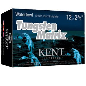 "Kent Cartridge Tungsten Matrix Waterfowl 12 Gauge Ammunition 10 Rounds 2-3/4"" Shell #5 Non-Toxic Lead Free Shot 1-1/4 Ounce 1400 fps"