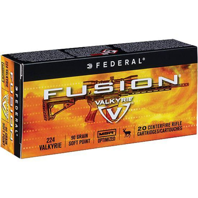 Federal .224 Valkyrie Ammunition 20 Rounds Fusion 90 Grains