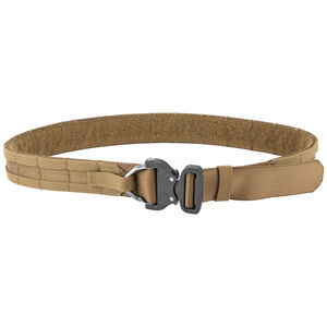 """Eagle Industries Operator Gun Belt Cobra Buckle D-Ring Attachment MOLLE 39""""-44"""" Coyote Brown"""