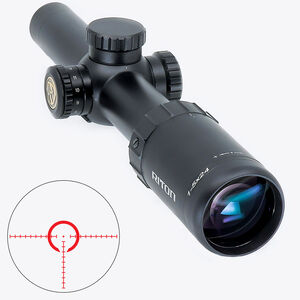 Riton RT-S Mod 7 1-5x24 Riflescope Illuminated Mod 1 QA Reticle 30mm Tube .5 Inch Adjustment Fixed Parallax 6061-T6 Aluminum Matte Black