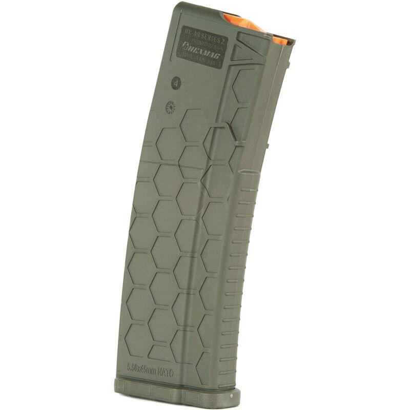 Hexmag Series 2 AR-15 30 Round Magazine/30 Round Body .223 Rem/5.56 NATO/.300 AAC Blackout PolyHex2 Advanced Composite Polymer OD Green