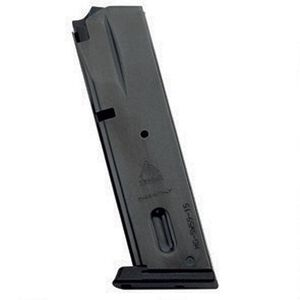 Mec-Gar Smith & Wesson 5900 Series/915/910/659 Magazine 9mm Luger 15 Round Capacity Steel Tube Polymer Floor Plate Blued
