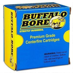 Buffalo Bore .458 SOCOM Ammunition 20 Rounds 350 Grain Jacketed Flat Nose 1710fps