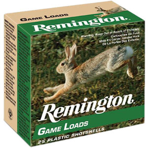 "Remington Lead Game Loads 16 Gauge Ammunition 2-3/4"" Shell #6 Lead Shot 1oz 1200fps"