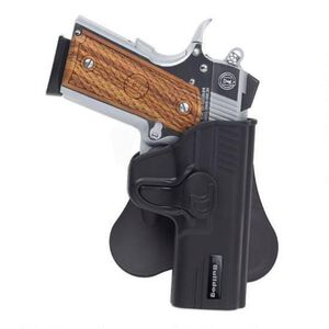 Bulldog Cases Rapid Release 1911 Officer Paddle Holster Right Hand Polymer Black
