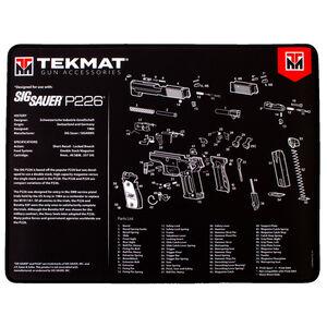 """TekMat Gun Accessories SIG Sauer P226 Schematic 20""""x15"""" Gun Cleaning Mat Black"""