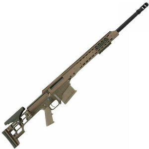 "Barrett Firearms Manufacturing MRAD Bolt Action Rifle .300 Win Mag 24"" Fluted Barrel 10 Rounds Folding Stock Tan CeraKote Finish 14390"