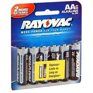 Rayovac AA Alkaline Batteries 6-Pack