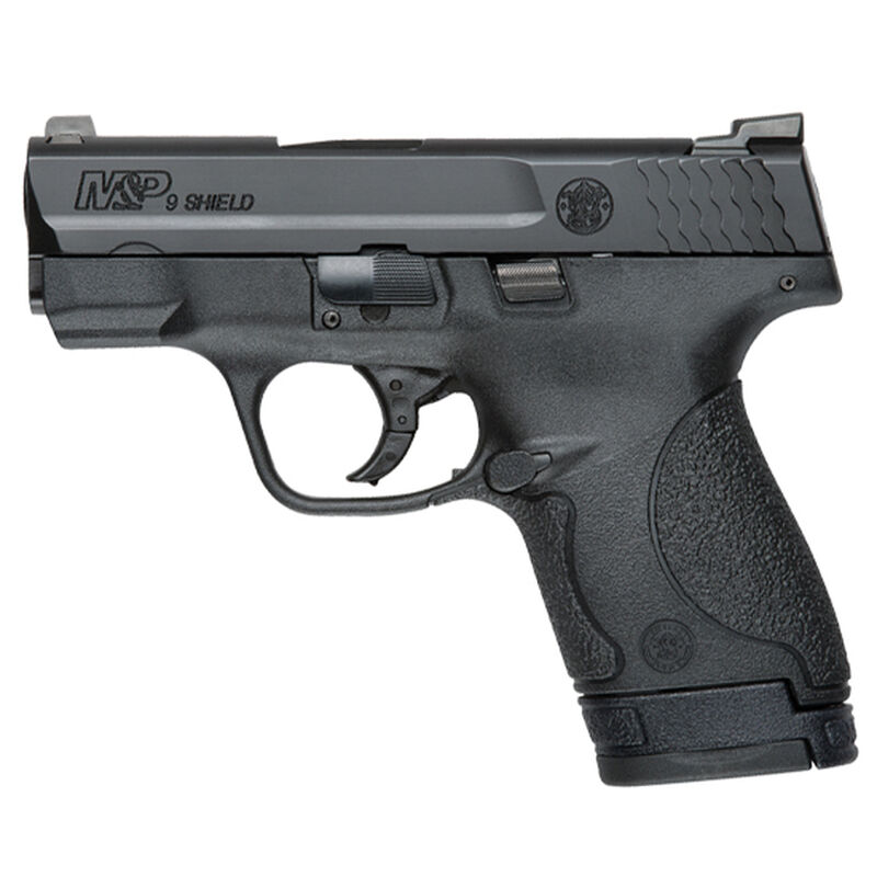 """S&W M&P Shield 9mm 3.1"""" Barrel 8rds No Safety Poly Blk"""