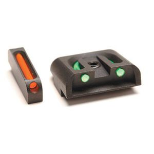 TruGlo Brite-Site Fiber Optic Sight Set for GLOCK 10mm/.357 SIG/.45 GAP and ACP Models 3 Dot Sights CNC Machined Steel Housing Matte Black Finish