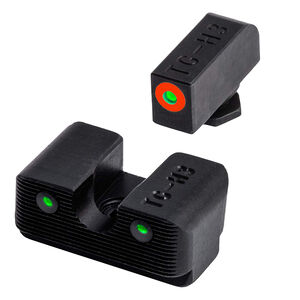 TRUGLO Tritium Pro Night Sights with Orange Focus Ring for GLOCK 10mm/45ACP