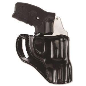 "Galco Hornet Colt Cobra/Agent/Detective Special, Ruger SP101 2.25"" Belt Holster Right Hand Leather Black HT118B"