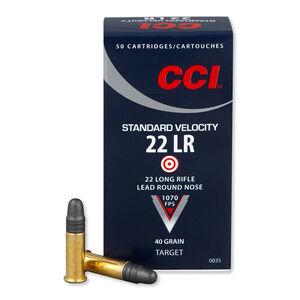 CCI Standard Velocity .22 LR Ammunition 40 Grain LRN 1070fps