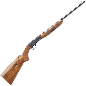 "Browning SA-22 Grade I Semi Automatic Rimfire Rifle .22 Long Rifle 19.25"" Barrel 11 Rounds Gloss Finish American Walnut Stock Polished Blued Finish"