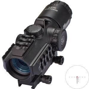 SIG Sauer Bravo3 3x24 Red Dot Optic Illuminated 300 Blackout Horseshoe Dot Reticle Picatinny Hex Bolt Mount .5 MOA Adjustment CR2 Battery Aluminum Housing Black Finish